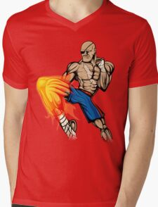 Tiger Knee Sagat Mens V-Neck T-Shirt