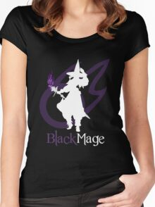 Black Mage - Final Fantasy XIV [black] Women's Fitted Scoop T-Shirt