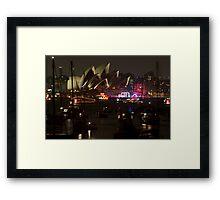 NYE Opera House Framed Print