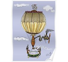 STEAMPUNK HOT AIR BALLOON Poster
