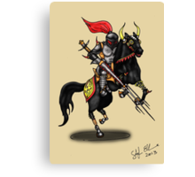BLACK KNIGHT ON HORSE Canvas Print