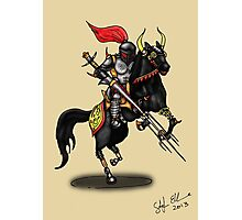 BLACK KNIGHT ON HORSE Photographic Print