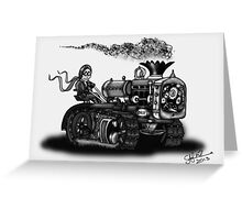 1923 BEST TRACTOR STEAMPUNK (BLACK AND WHITE) Greeting Card