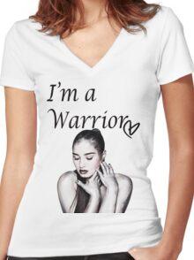 Demi Lovato Warrior Women's Fitted V-Neck T-Shirt