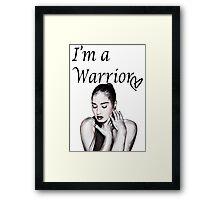 Demi Lovato Warrior Framed Print