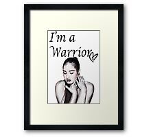 Demi Lovato Warrior Framed Print