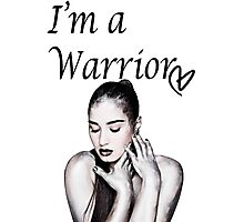 Demi Lovato Warrior Photographic Print