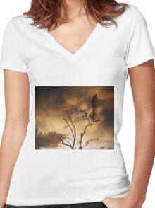 Primal Scream Women's Fitted V-Neck T-Shirt