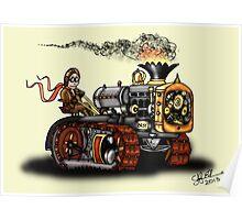 Steampunk Best Tractor 1923 Poster