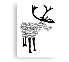 Rudolph Typography Canvas Print