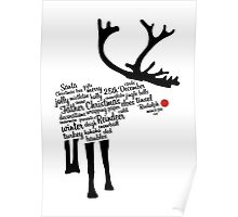 Rudolph Typography Poster