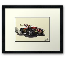 Steampunk Cobra (yellow) Framed Print