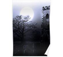 Moonlit Church Poster