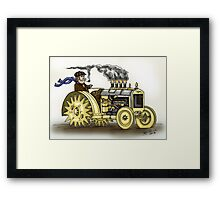 Steampunk Tractor Framed Print