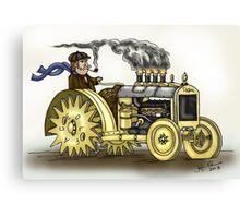 Steampunk Tractor Canvas Print