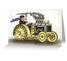 Steampunk Tractor Greeting Card