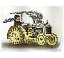 Steampunk Tractor Poster