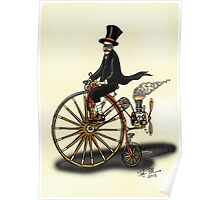 STEAMPUNK PENNY FARTHING Poster