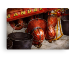Fireman - Hats - I volunteered for this  Canvas Print