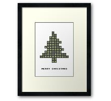 Tetrismas Tree Framed Print