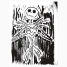 Skeleton - Stamp by Sarah Bentvelzen