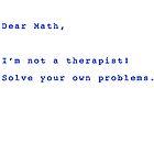 Dear Math by David Geoffrey Gosling (Dave Gosling)