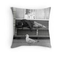 down and out in Brighton Throw Pillow