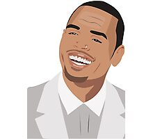 Chris brown Illutration Photographic Print