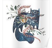 Bane - Feline Terrarium Poster