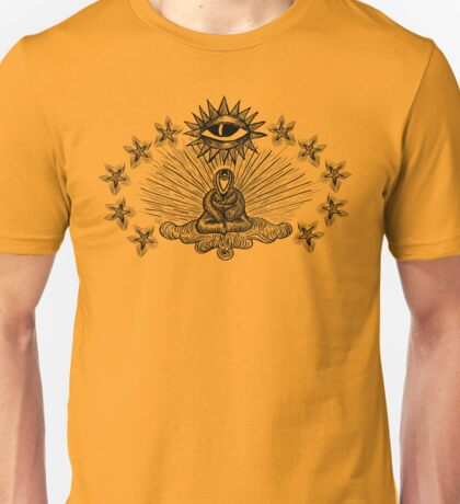 When I Look At You With Your Eyes - Monk, Eyes, Star, Third Eye Unisex T-Shirt