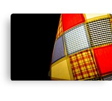 Patch work Lamp Shade Canvas Print