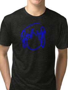 Scott Pilgrim VS the World - Have you seen a girl with hair like this...Ramona Flowers DARK BLUE Tri-blend T-Shirt