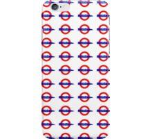 London Underground painted logo iPhone Case/Skin