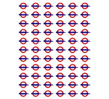 London Underground painted logo Photographic Print