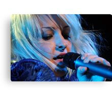 Kate Miller-Heidke - in Blue Canvas Print