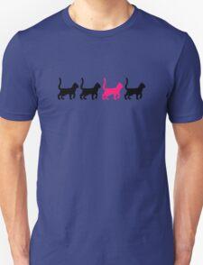 Black pink cats Unisex T-Shirt