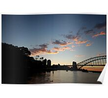 Awaiting the Day - Sydney Harbour Poster
