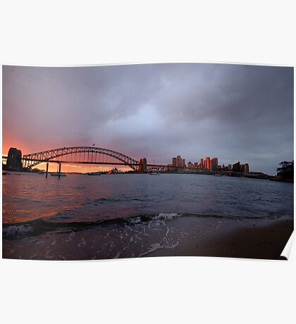 Reflections of Day - Moods Of A City, Sydney Australia Poster