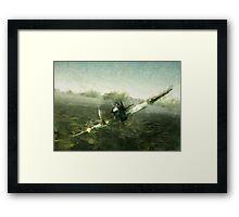 Fantastic World War 2 Hurricane Print / Hurricane in Battle WW2 , Spitfire Battle of Britain Framed Print