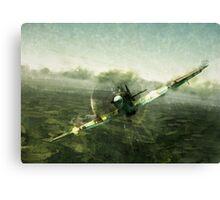 Fantastic World War 2 Hurricane Print / Hurricane in Battle WW2 , Spitfire Battle of Britain Canvas Print