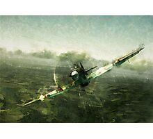 Fantastic World War 2 Hurricane Print / Hurricane in Battle WW2 , Spitfire Battle of Britain Photographic Print