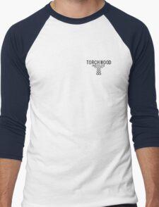 Torchwood employee shirt 1  Men's Baseball ¾ T-Shirt