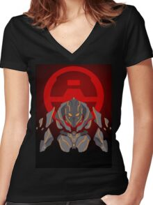 Halo 4 - The Didact Women's Fitted V-Neck T-Shirt