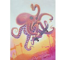 The Octopus Skater Photographic Print