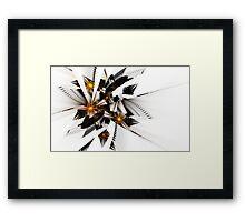 Broken Sun Mirror Framed Print