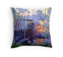 Late afternoon rocks Throw Pillow