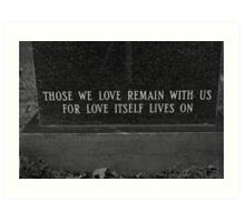 love can last forever Art Print