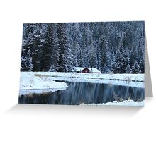 House In the Canyon. Greeting Card