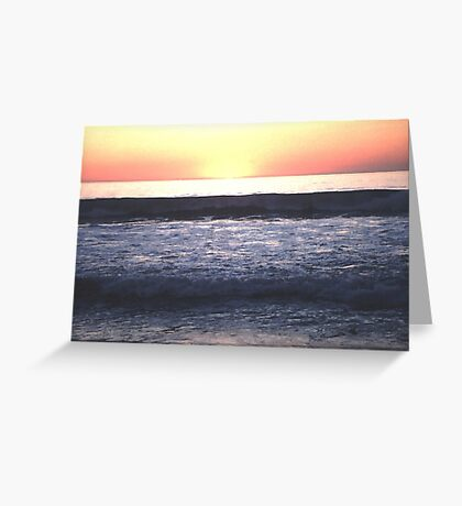 The Sun Winks Goodnight Greeting Card