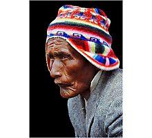 Aymara Man. Taquile Island. Titikaka Lake, Bolivia Photographic Print